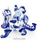 Скульптура «Дед Мороз на драконе»