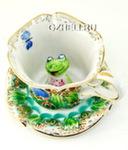 Чайная пара «Лягушка» цвет авт. С. Алёхин