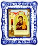 Икона рама «Божией матери Нечаянная Радость»