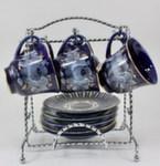 Чайный набор «Ромашка» (глухой кобальт)