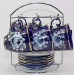 Чайный набор «Чародейка» (глухой кобальт)