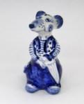 Скульптура «Крыса с зонтом Моряк»