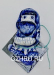 Скульптура «Оберег магнит Лазурит» авт. А. и И. Дрезгуновы