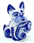 Скульптура «Собака Тапок» авт. Е. Сивова