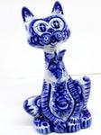 Скульптура «Кот Леопольд с бабочкой» авт. Е. Сивова