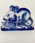 Скульптура «Символ года Мышь с колоском» магнит авт. А. Жигунов