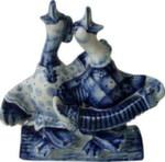 Скульптура «Два веселых гуся» авт. В. И Л. Черновы