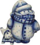 Скульптура «Гуляю с мишей» авт. В. И Л. Черновы