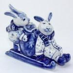 Скульптура «Зайцы на санях» авт. В. И Л. Черновы