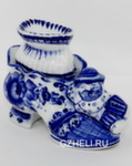 Скульптура «Башмачок с носком» шкатулка авт. В. И Л. Черновы