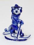 Скульптура тигр «Лыжник» авт. А. Киселев