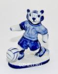 Скульптура тигр «Футболист» авт. А. Киселев