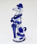 Скульптура собака «Такса с зонтом» авт. А. Киселев
