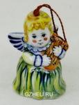Скульптура «Елочная игрушка Ангел» колокольчик цвет авт. А. Савостьянова
