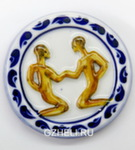 Скульптура «Знак зодиака Близнецы» цвет магнит авт. А. Савостьянова