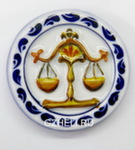 Скульптура «Знак зодиака Весы» цвет магнит авт. А. Савостьянова