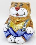 Скульптура «Кот на Таити» копилка цвет авт. А. Савостьянова