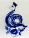 Скульптура «Змейка» магнит авт. И. Коршунова