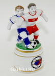 Скульптура «Футболисты на подставке» цвет авт. Г. Шестакова