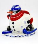 Скульптура «Снеговик лыжник» авт. Г. Шестакова