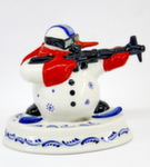 Скульптура «Снеговик биатлонист» авт. Г. Шестакова
