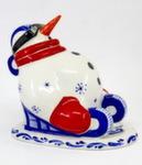 Скульптура «Снеговик саночник» авт. Г. Шестакова