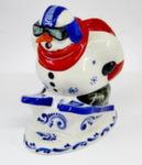 Скульптура «Снеговик горнолыжник» авт. Г. Шестакова