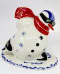 Скульптура «Снеговик конькобежец» авт. Г. Шестакова
