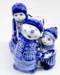 Скульптура «Дети со снеговиком» авт. М. Тарыгин
