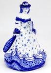 Скульптура «Дама. В шляпе с веером» колокольчик авт. М. Тарыгин