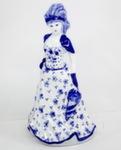 Скульптура «Дама. В шляпе с перьями» колокольчик авт. М. Тарыгин