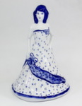 Скульптура «Дама. Барышня в платье с бантами» колокольчик авт. М. Тарыгин