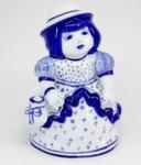Скульптура «Дама. С мешочком» колокольчик авт. М. Тарыгин