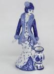 Скульптура «Дама. Барышня с вазой» колокольчик авт. М. Тарыгин