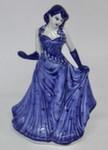 Скульптура «Дама. В вечернем платье» колокольчик авт. М. Тарыгин