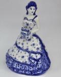 Скульптура «Дама. С подарком» колокольчик авт. М. Тарыгин