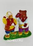 Скульптура «Мужик и медведь попрошайки» цвет авт. Ю.М.Мухин