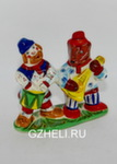 Скульптура «Мужик и медведь музыканты» цвет авт. Ю.М.Мухин