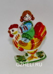Скульптура «Девочка на петухе» цвет авт. Ю.М.Мухин
