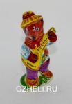Скульптура «Медвежонок с балалайкой» цвет авт. Ю.М.Мухин