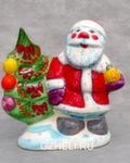 Скульптура «Дед Мороз с ёлкой» цвет авт. Ю.М.Мухин