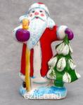 Скульптура «Дед Мороз с ёлкой» большой цвет авт. Ю.М.Мухин