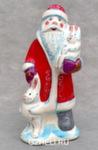 Скульптура «Дед Мороз с зайцами» цвет авт. Ю.М.Мухин