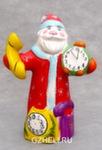 Скульптура «Дед Мороз с часами» цвет авт. Ю.М.Мухин