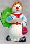 Скульптура «Снежная баба с зонтиком» цвет авт. Ю.М.Мухин