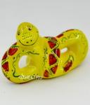 Скульптура «Змейка» желтая цвет авт. Ю.М.Мухин