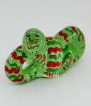 Скульптура «Змейка» зеленая цвет авт. Ю.М.Мухин