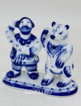 Скульптура «Мужик и медведь попрошайки» авт. Ю.М.Мухин