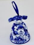 Скульптура «Девочка с собачкой» колокольчик авт. Ю.М.Мухин