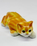 Скульптура «Кот ползучий» цвет рыжий авт. Ю.М.Мухин